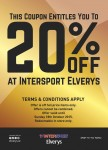 20% Off at Intersport Elverys